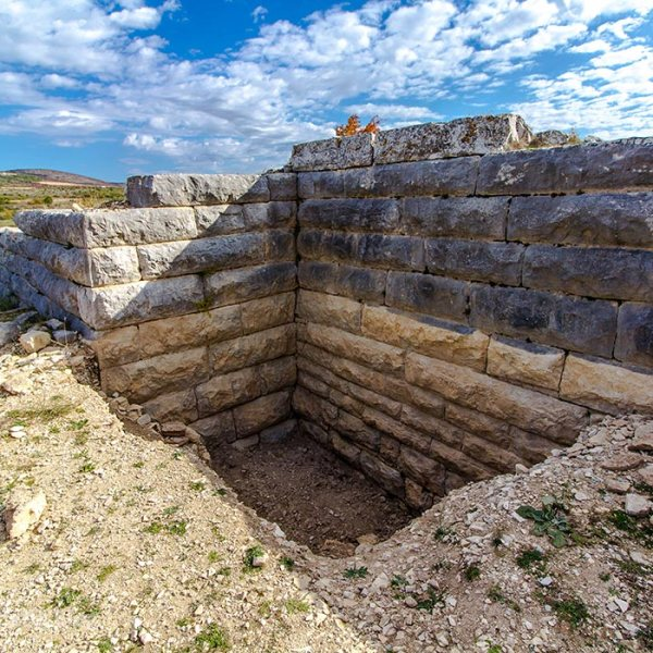 Layers of historic walls of Asseria near Benkovac
