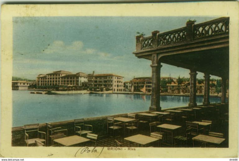 Brijuni harbor and hotels in the early 1900s