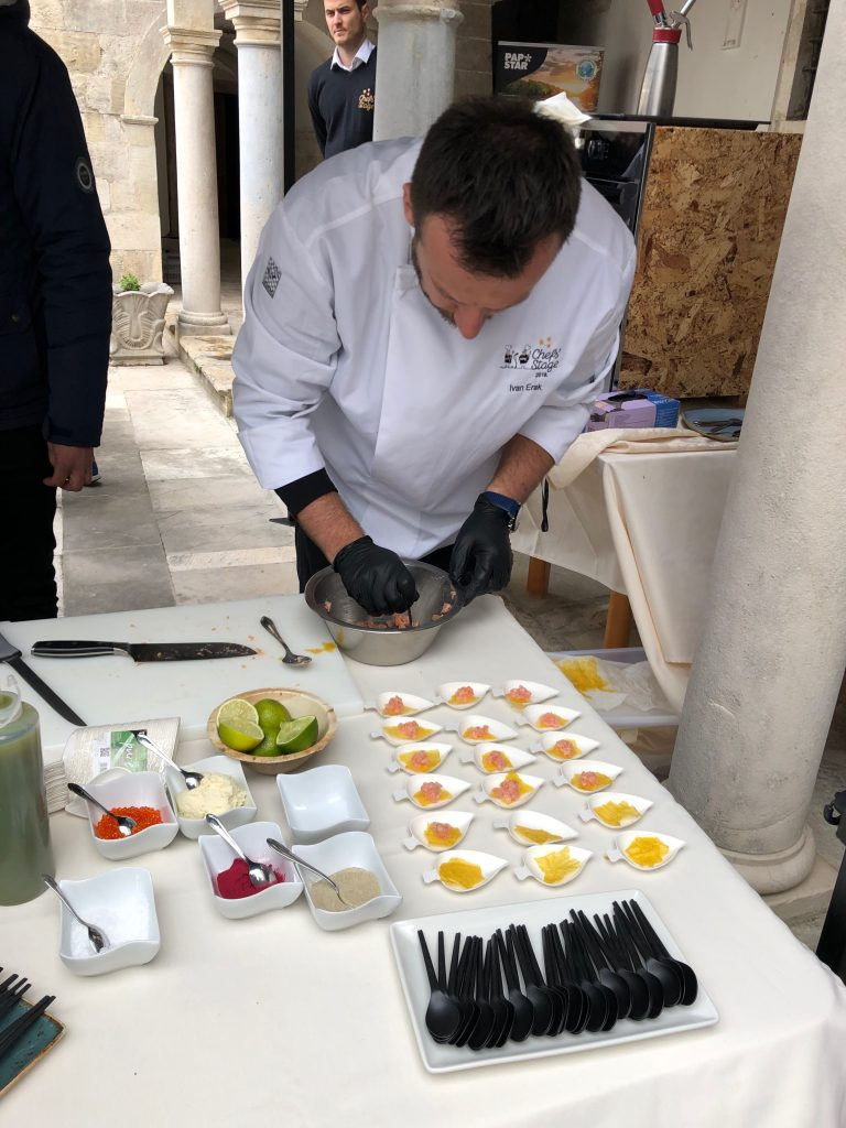 Trout masterclass at Krka Monastery