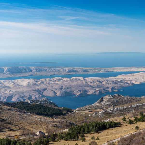 The view of Pag from Velebit