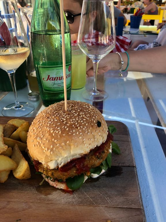 Fabrika Signature prawn burger
