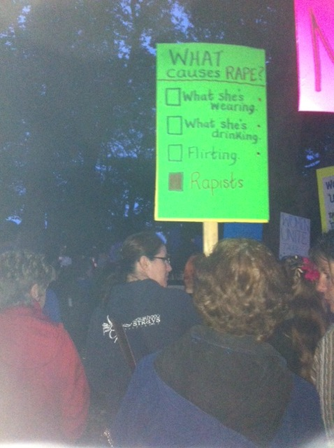 Take Back The Night rally, Photo by Kerri Claire, 2014.