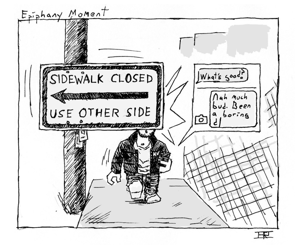 003 - Sidewalk closed