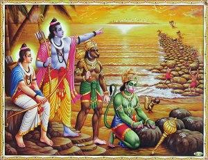 hanuman-and-vanar-sena-build-bridge-of-rocks-across-CH45_l