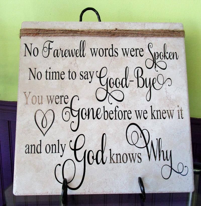 no farewell