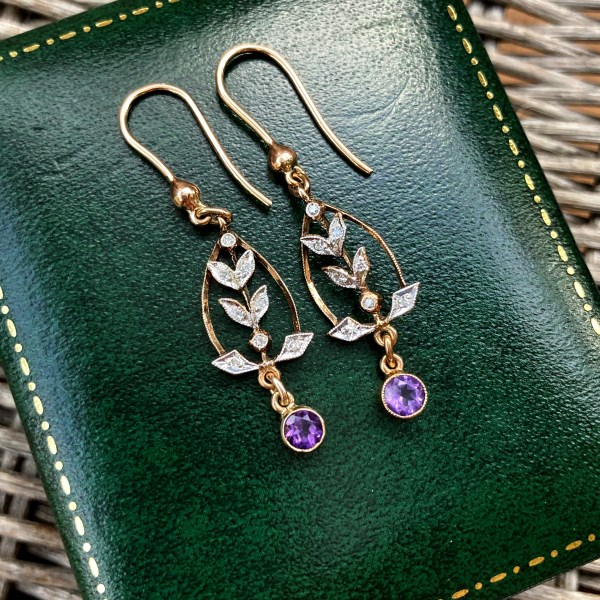 Edwardian Style Drop Earrings