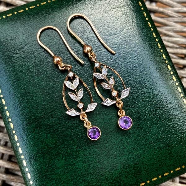 Edwardian Style Drop Earrings