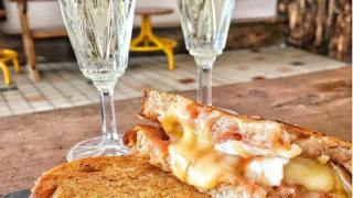 toasties and prosecco