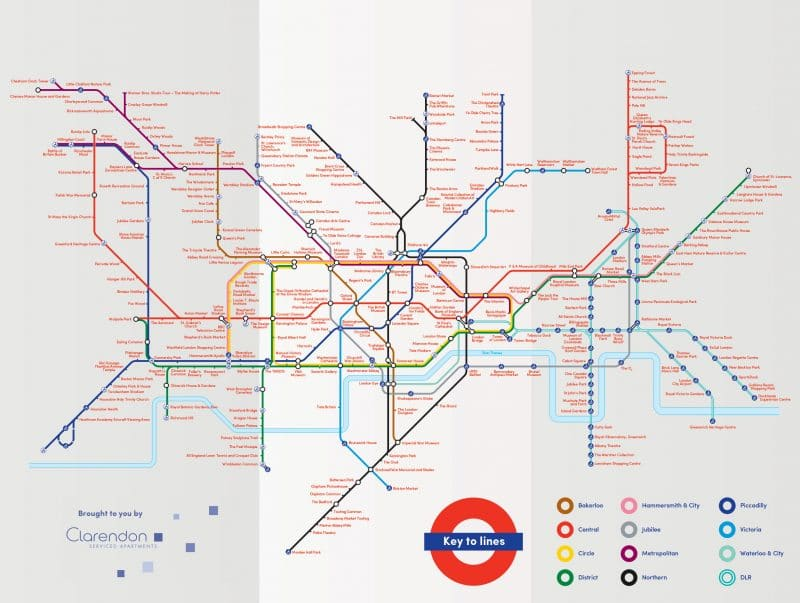 This Alternative Tube Map Shows You The Best Things To Do At Each - London city map with attractions