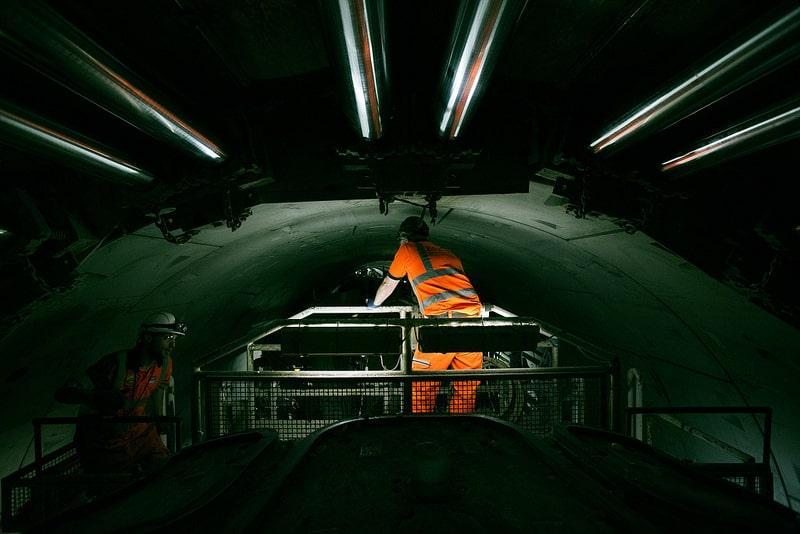 Crossrail Machine Workers