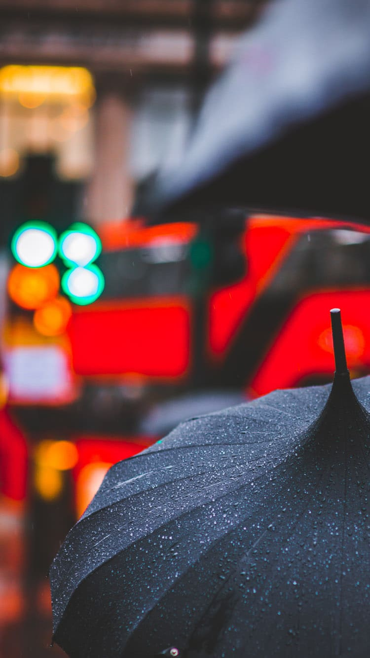 Rainy London iphone wallpaper download
