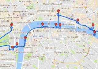 Sightseeing London Walking Route