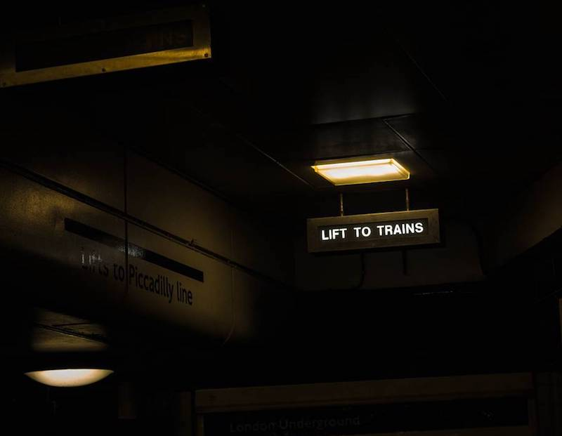 Lift to trains Covent Garden
