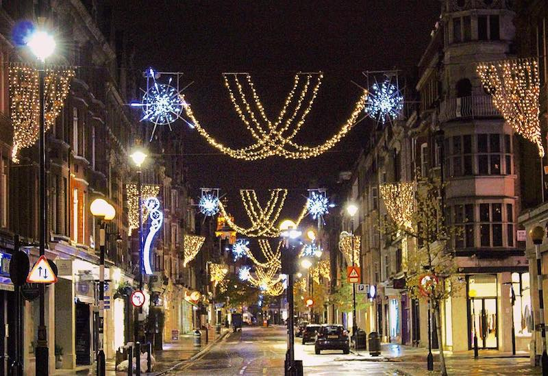 Marylebone Christmas Lights, London
