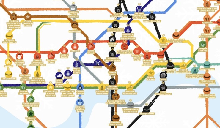 Christmas Tube Map London