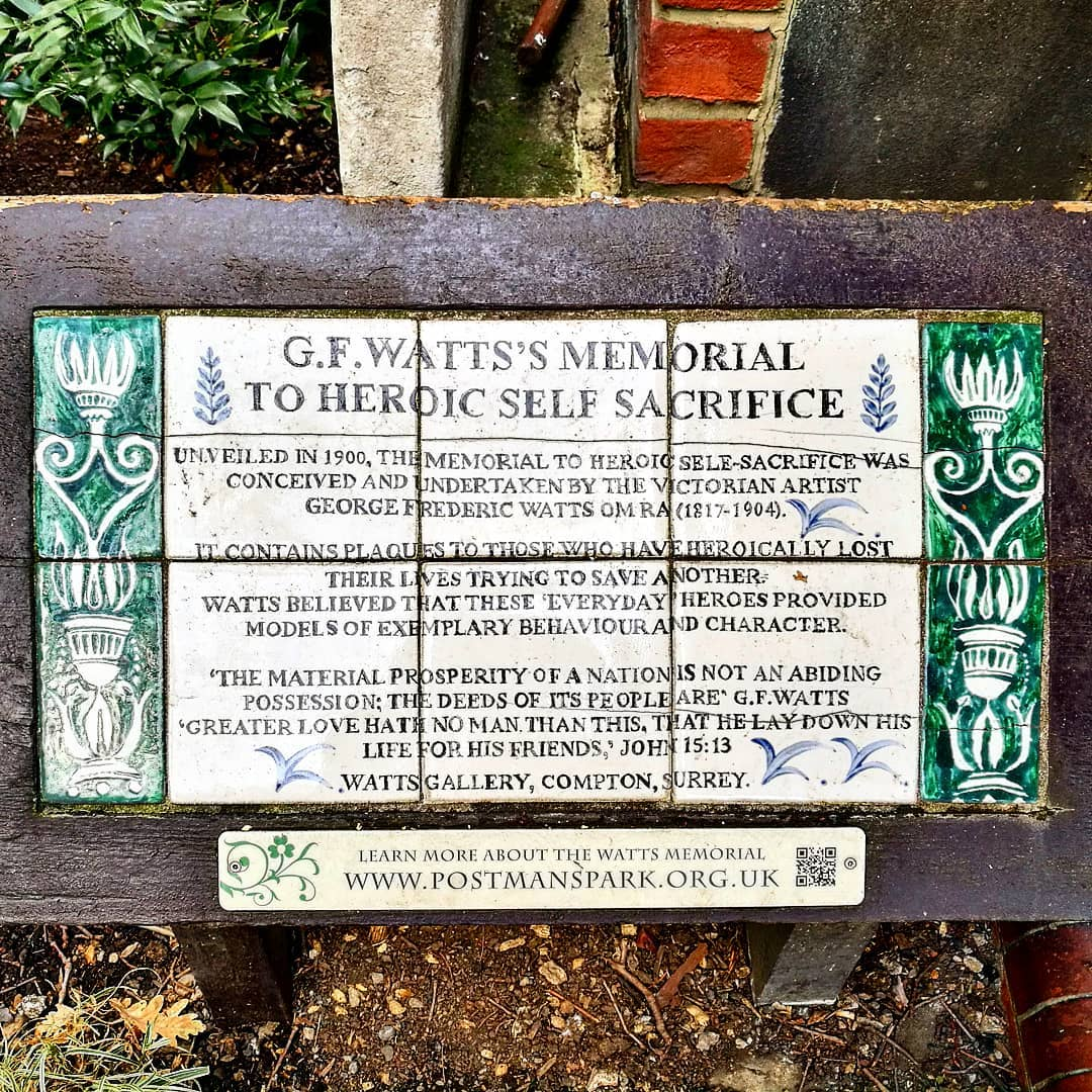 George Frederic Watts Postmans Park