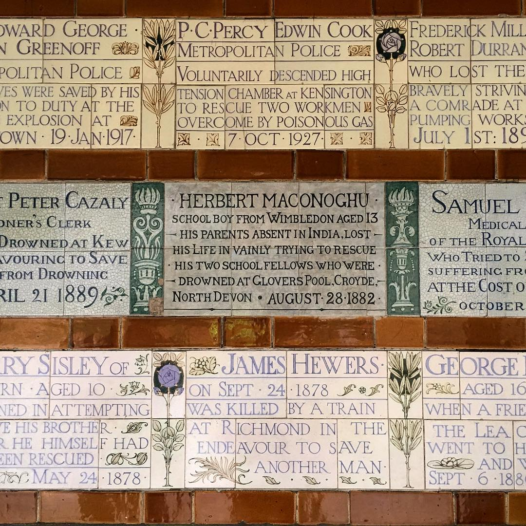 Plaques at the Memorial to Heroic Self Sacrifice