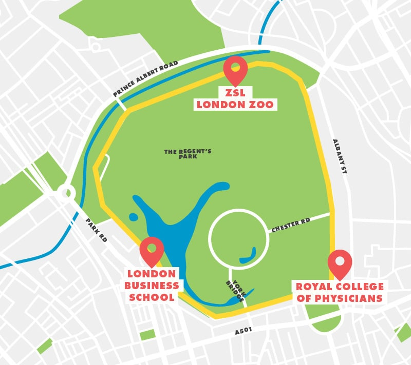 Regents Park Running Route