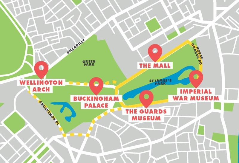 Running route St James Park