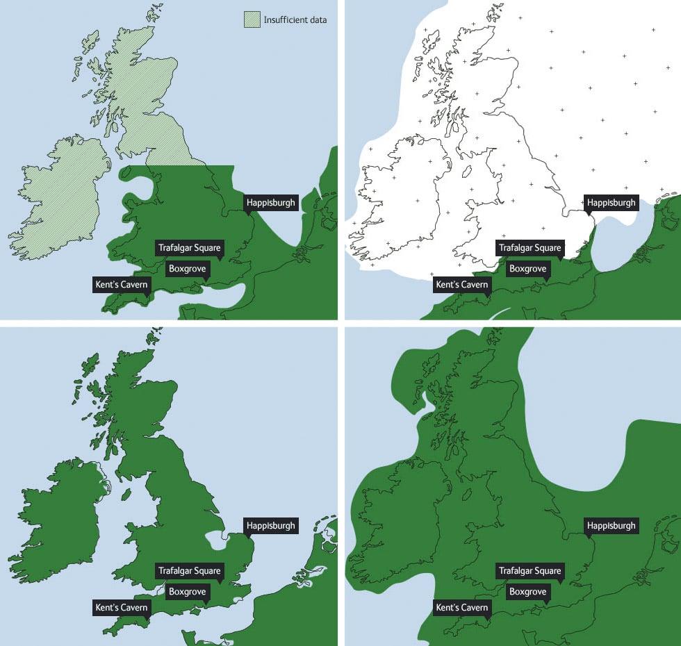 Great Britain glaciation history