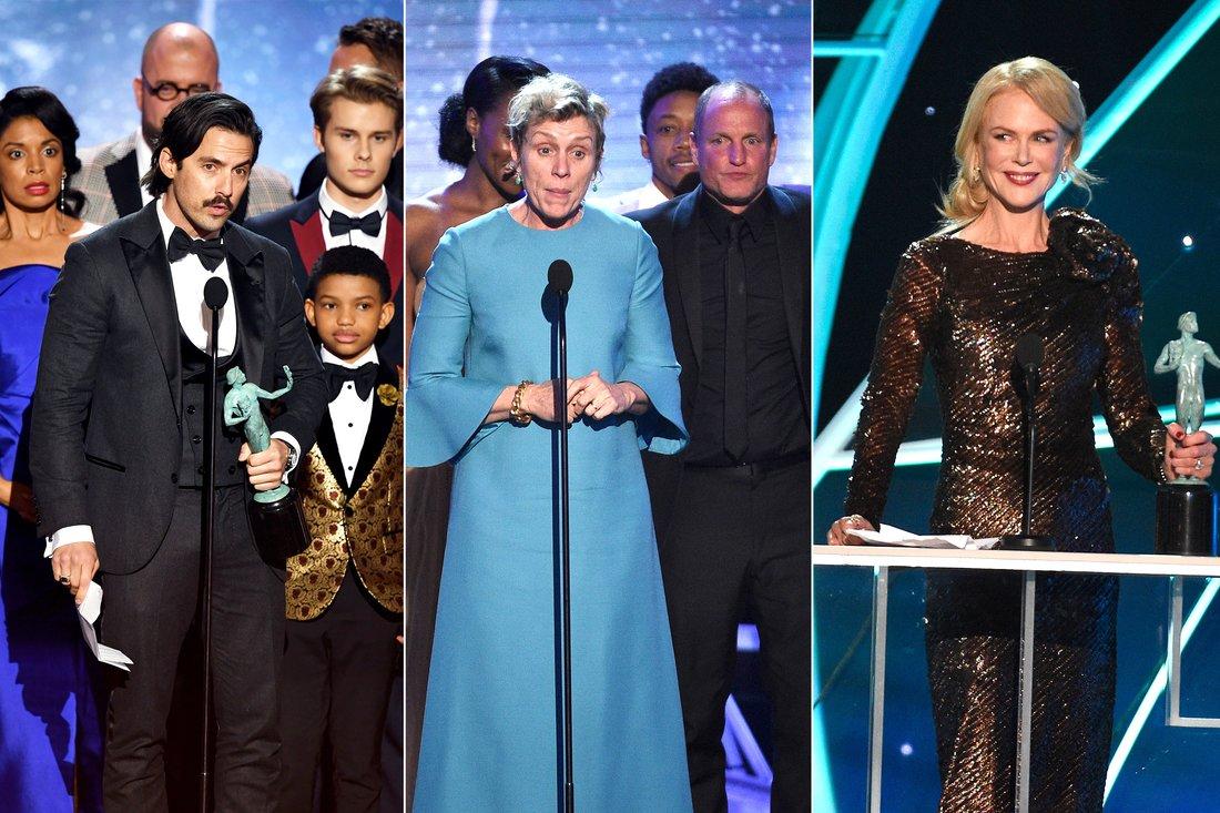 SAG Awards 2018: tutti i vincitori e i look delle stars
