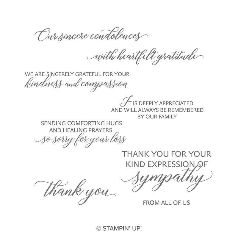 Stampin Up Kindness and Compassion Stamp Set