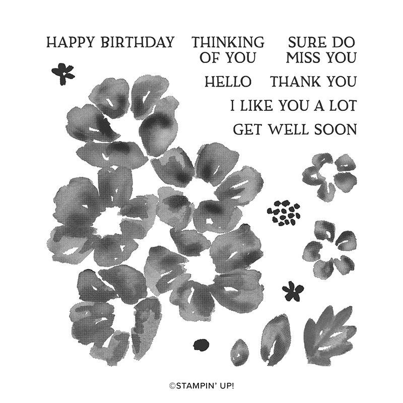 Stampin Up Blossoms in Blooms Stamp Set