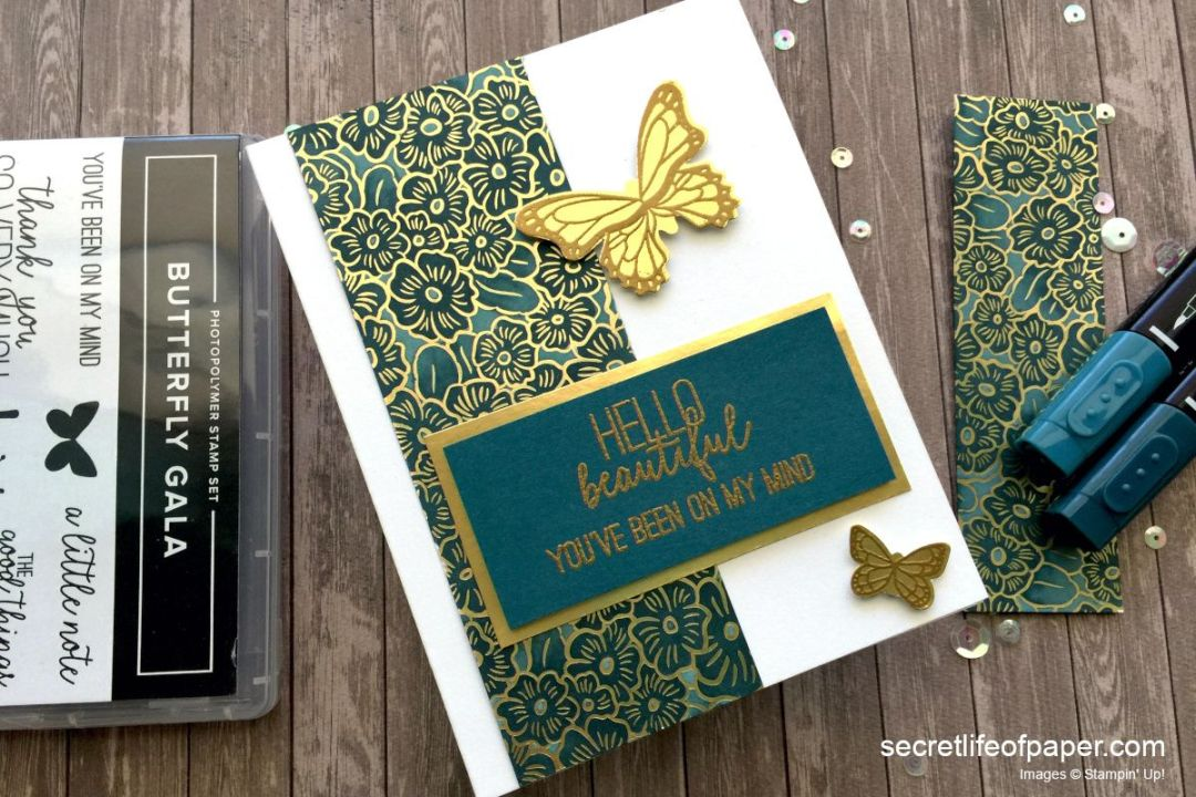 Stampin Up Butterfly Gala Gold and Pretty Peacock