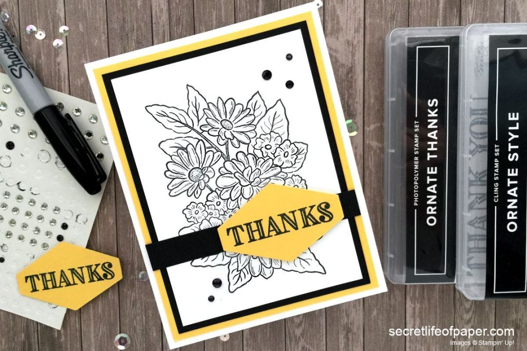 Stampin Up Ornate Garden Suite Card