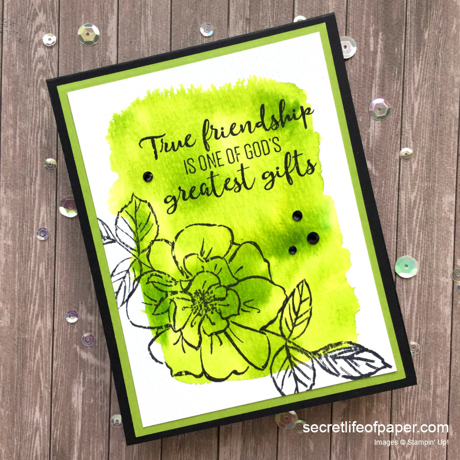To A Wild Rose Pigment Sprinkle Card