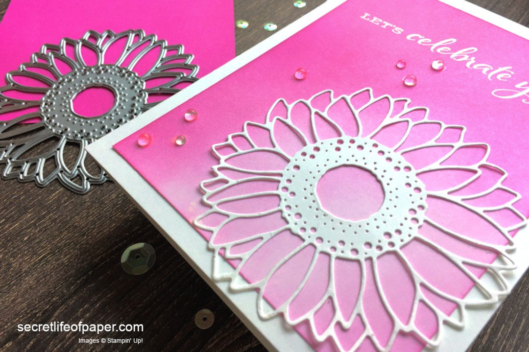 Stampin Up Celebrate Sunflowers Magenta Madness Detail