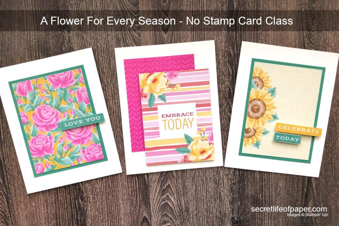 Flower For Every Season Card Class Header