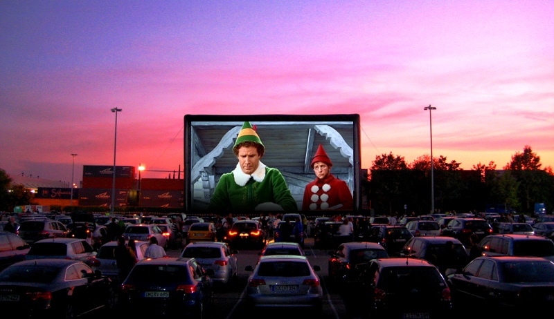 Image result for drive in cinema christmas