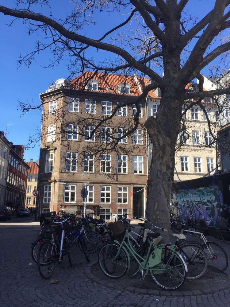 Copenhagen street with bikes - Weekend in Copenhagen