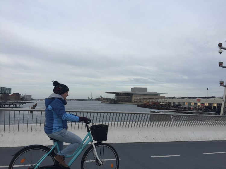 Lady riding a bike - Weekend in Copenhagen