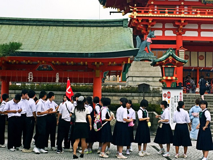 School trip at Fushimi Inari - Kyoto 1 Day Itinerary