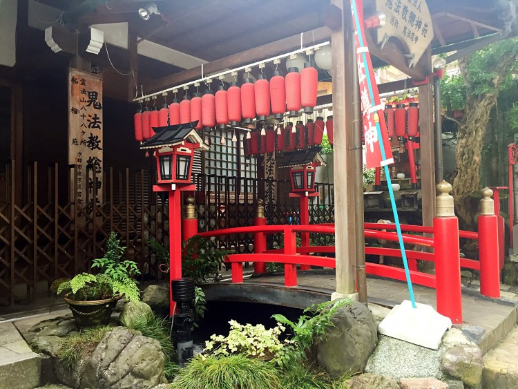 Small shop at shrine with bridge - Kyoto 1 Day Itinerary
