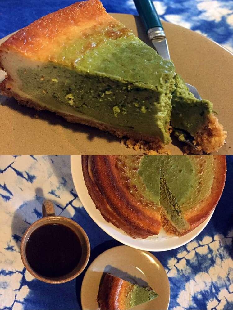 Matcha cheesecake - matcha cheesecake