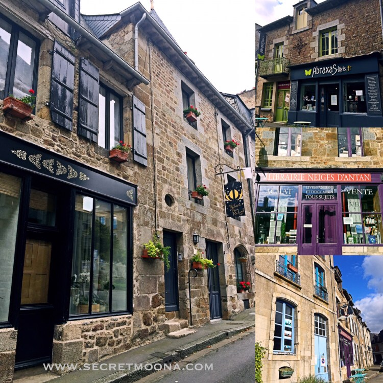 Bécherel's different book stores - book town