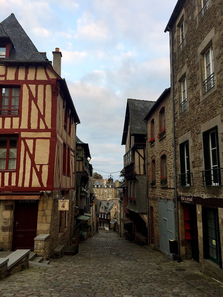 Steep streets - Medieval town of Dinan