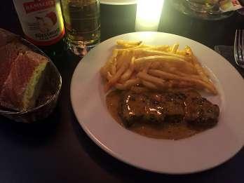 Main dish of rib eye steak at Wine & Beef - Weekend in Geneva
