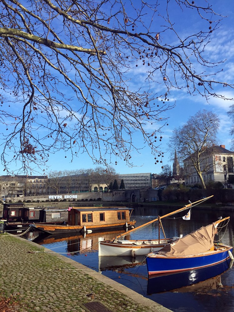 Boats on the river Erdre - things to do in Nantes