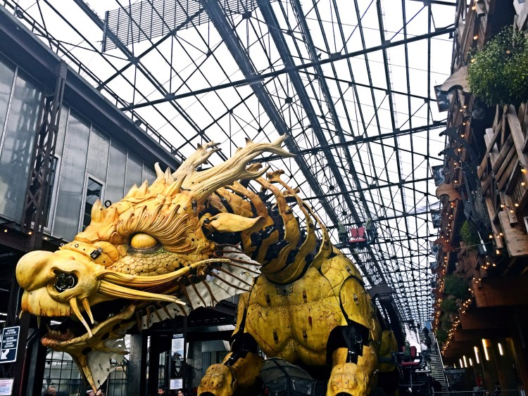 Horse dragon sculpture at Machines de l'Ile, Nantes - things to do in Nantes