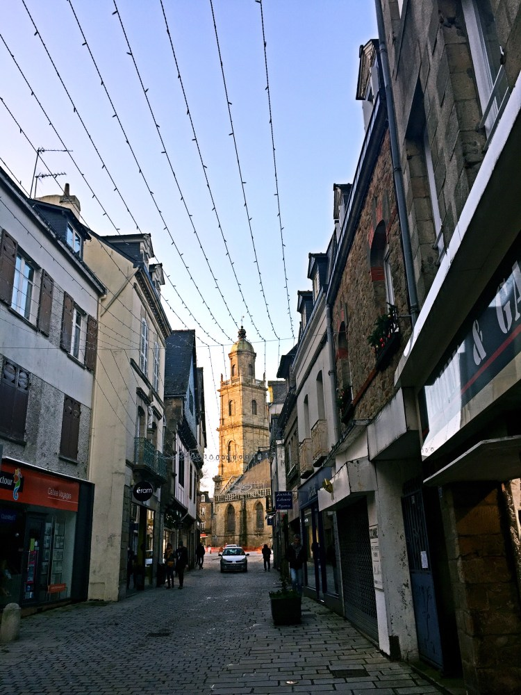 View of Auray's church - Auray Brittany