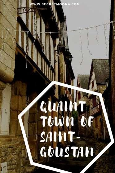 Quaint town Saint-Goustan - pin