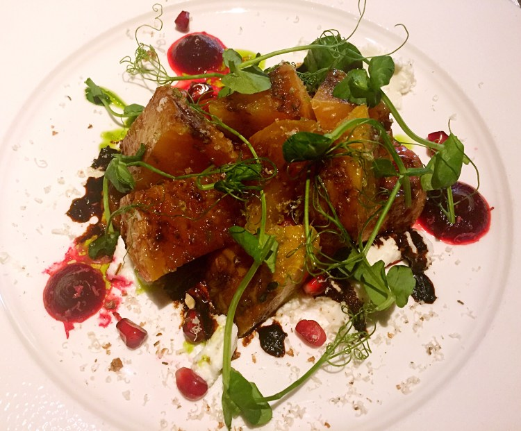 Beetroot and Goat's cheese at Ting, Shard - Ting Shard