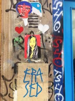 Street art in Rue Denoyez - self-guided tour of Belleville and Ménilmontant