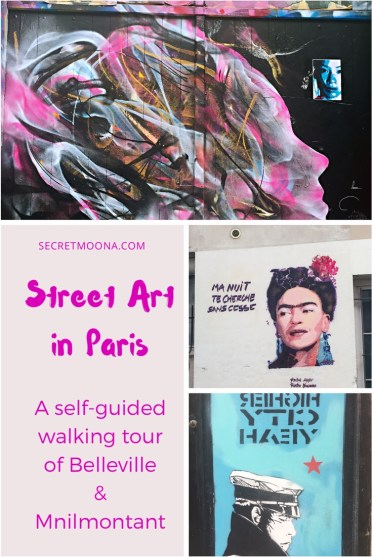Street Art in Paris. A self-guided tour of Belleville and Ménilmontant.