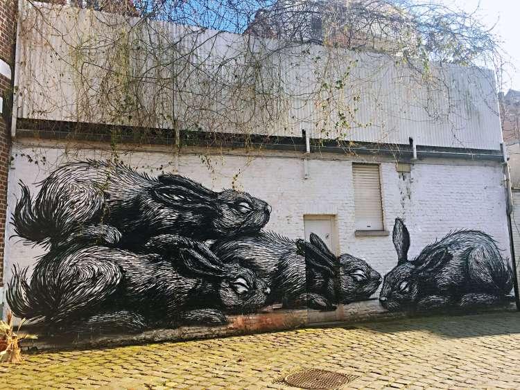 ROA Tempelhof - Ghent street art - SecretMoona