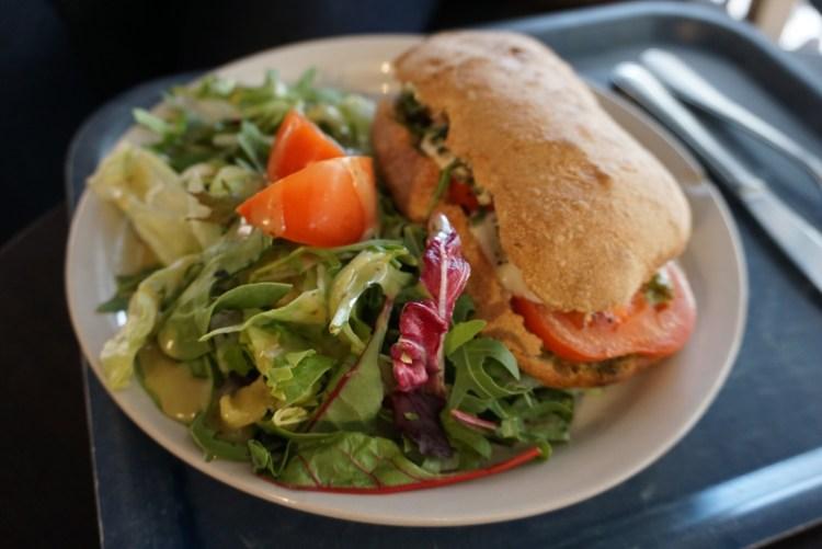 Mozzarella ciabatta at Wayne's Coffee - a day in Stockholm